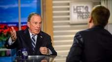 "Michael Bloomberg, seen here with ""Meet the Press"""