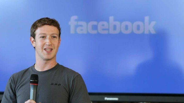 Facebook founder and CEO Mark Zuckerberg speaks during
