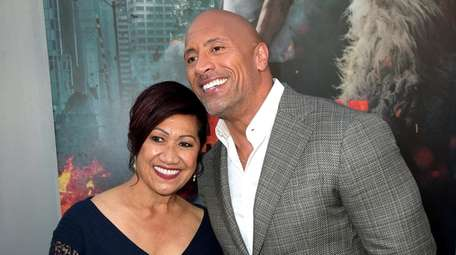 Actor Dwayne Johnson and his mother, Ata Johnson,