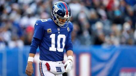 Eli Manning #10 of the New York Giants
