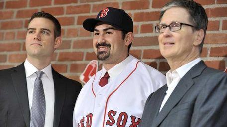New Boston Red Sox first baseman Adrian Gonzalez,