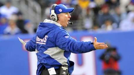 Giants coach Tom Coughlin during the 2010 season.