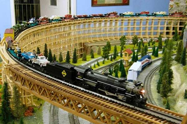 Model train set for adults