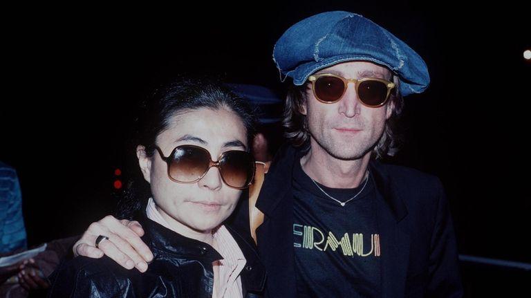 Yoko Ono and John Lennon in 1980.
