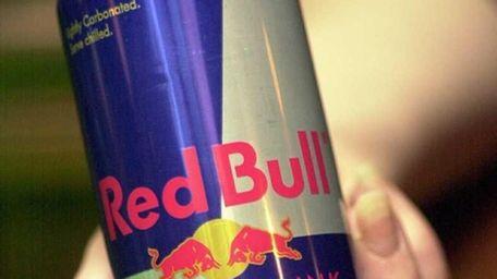 Red Bull energy drink.