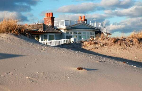 A mansion on Dune Road in Quogue overlooks