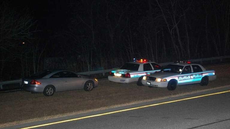 The scene where police arrested a wrong-way driver