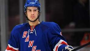 Rangers defenseman Michael Del Zotto waits for a