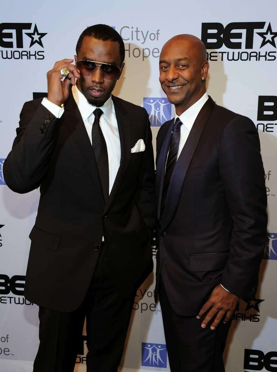 Sean Combs and Stephen Hill, president of music