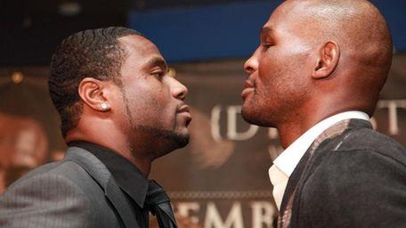 Light heavyweight opponents Jean Pascal and Bernard Hopkins