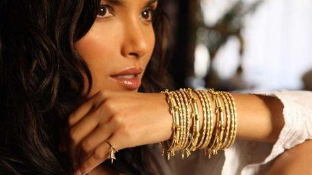 Padma Lakshmi visits Bergdorf Goodman in Manhattan with