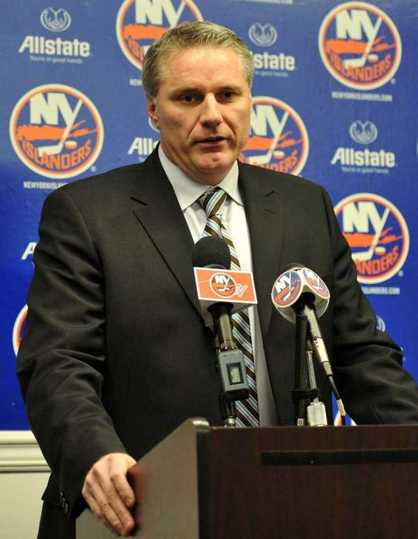 New York Islanders general manager Garth Snow addresses