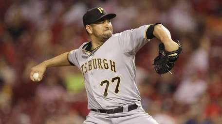 Pittsburgh Pirates relief pitcher D.J. Carrasco in action