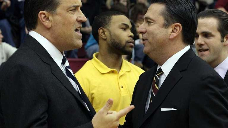 St. John's University's Head Coach Steve Lavin gets