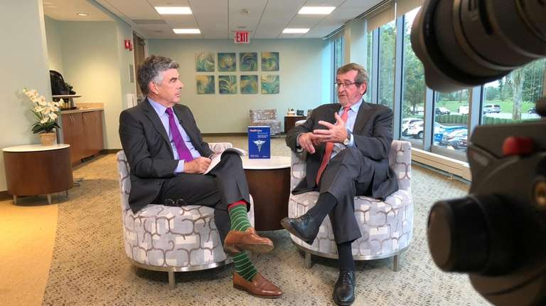 Northwell Health CEO Michael Dowling talks to Charles