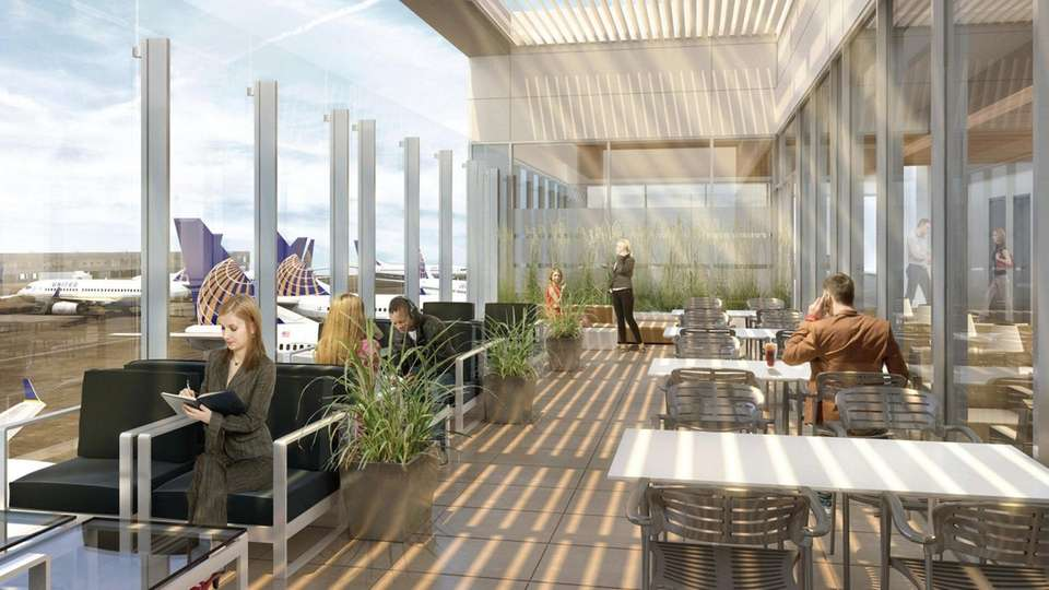 A rendering of the United Airlines United Club