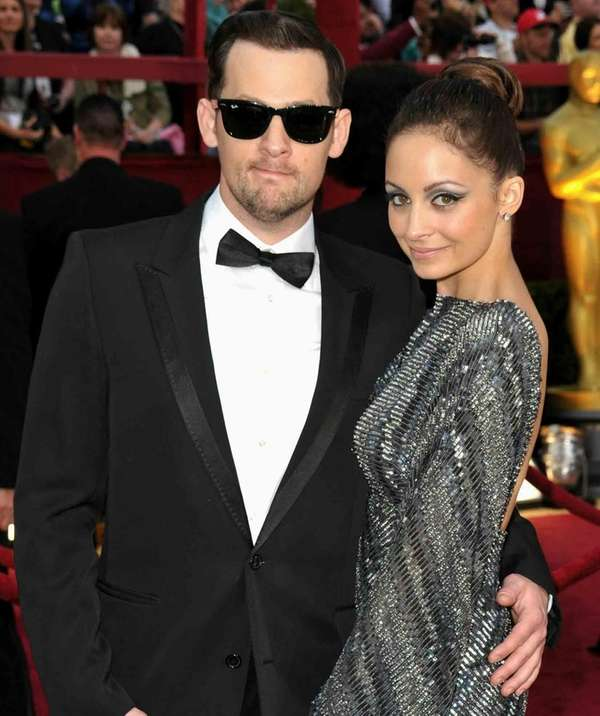 Musician Joel Madden and Nicole Richie arrive at