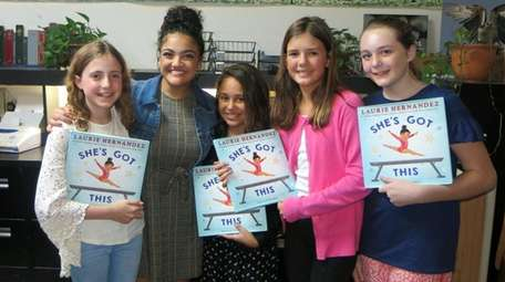 Olympic gold medal gymnast and author Laurie Hernandez