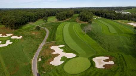 An aerial view of hole No. 16 at