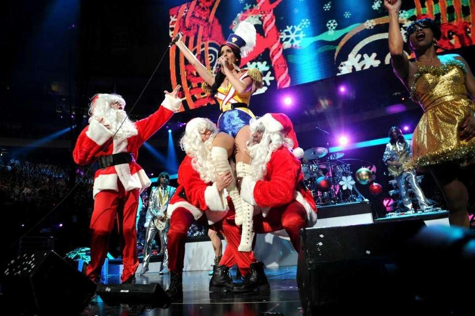Katy Perry performs during Z100's Jingle Ball 2010