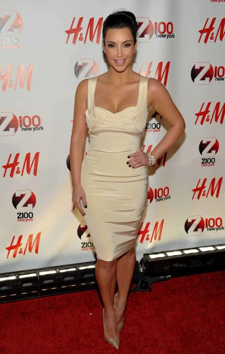 Television personality Kim Kardashian attends the Z100 Jingle