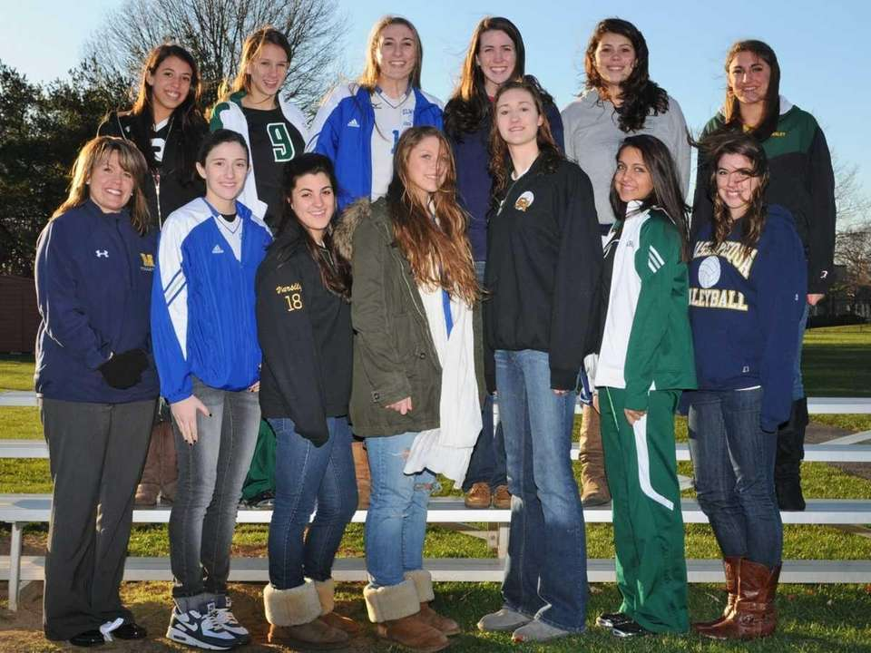 The All-Long Island varsity girls volleyball team poses