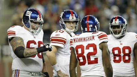 Eli Manning of the New York Giants with
