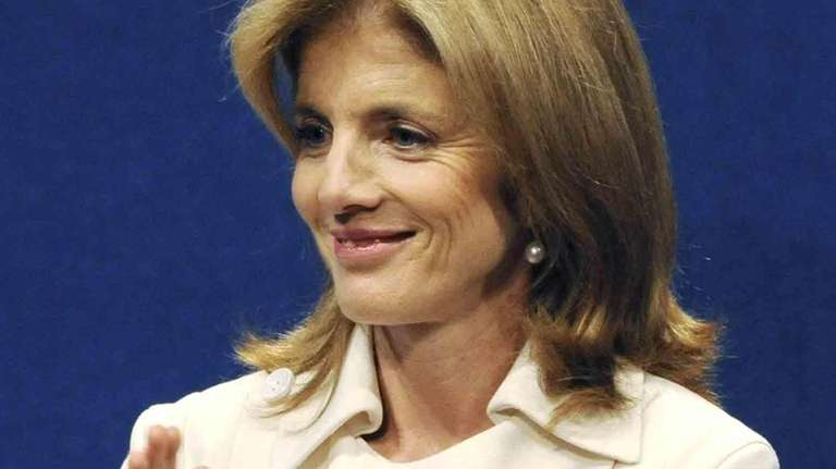 Caroline Kennedy claps during an event to award