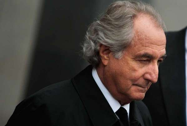 Bernard Madoff leaves federal court in Manhattan. (March