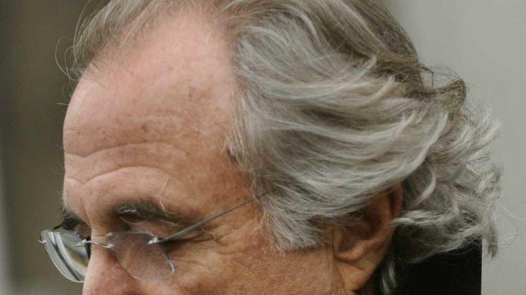 Bernard Madoff leaving federal court in Manhattan. (January