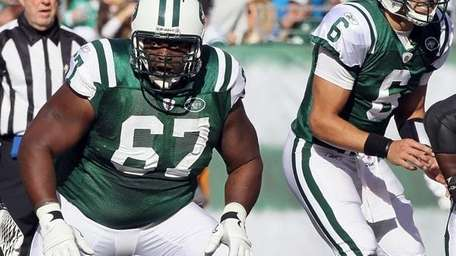 Jets offensive lineman Damien Woody.