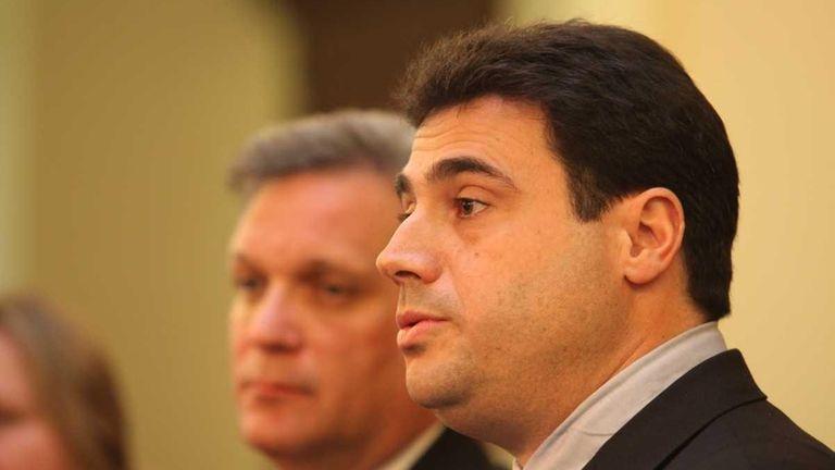 Nassau County Executive Edward Mangano announces the medical