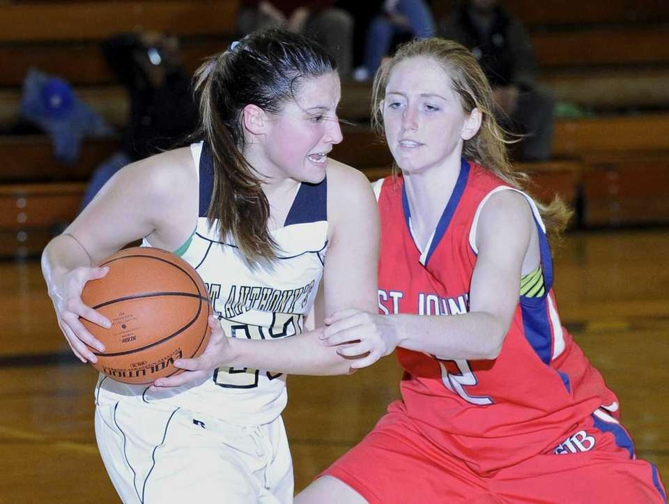St. Anthony's Kerrin Maurer protects the ball from