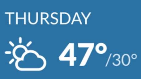 """Thursday """"will be mild and it will be"""