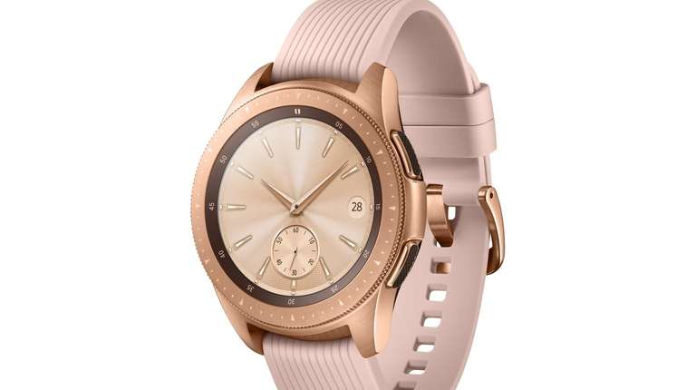 The Rose Gold Samsung Galaxy Watch is one