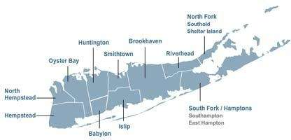 A map of Long Island.