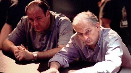 Series star James Gandolfini, left, and creator David