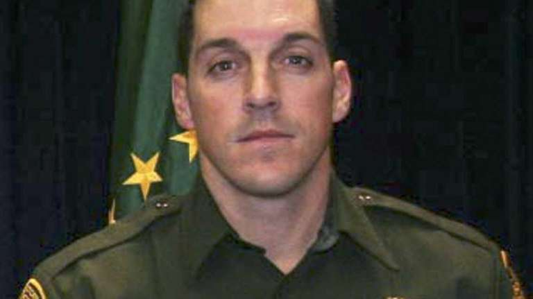 An undated photo shows U.S. Border Patrol agent