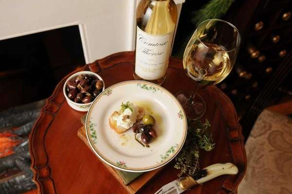 Comtesse Therese in Aquebogue suggests wine and cheese