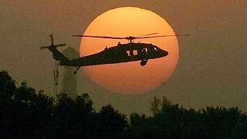A Black Hawk helicopter deployed in Iraq.