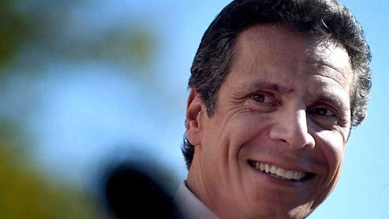Andrew Cuomo during a campaign rally in front
