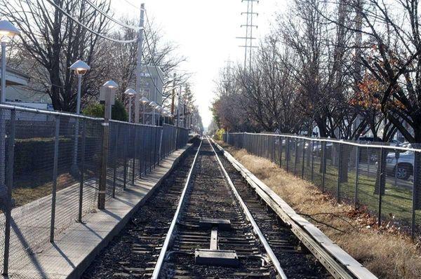 Malverne's Long Island Rail Road tracks run right