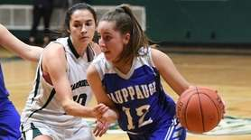 Hauppauge guard Giuliana Abruscato droves to the basket