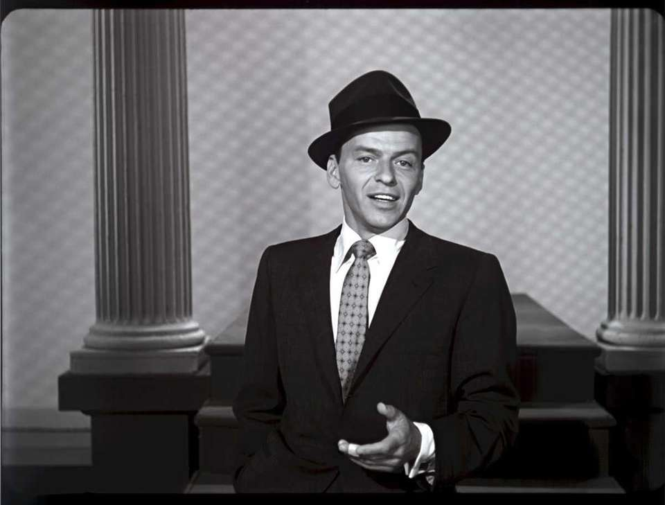 Frank Sinatra seen in a clip from