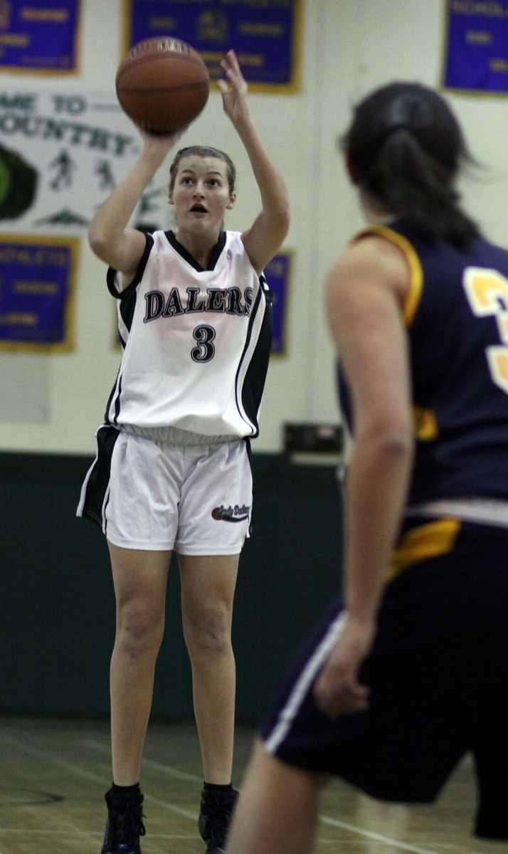 Farmingdale's Kyra Ochwat hits for two from the