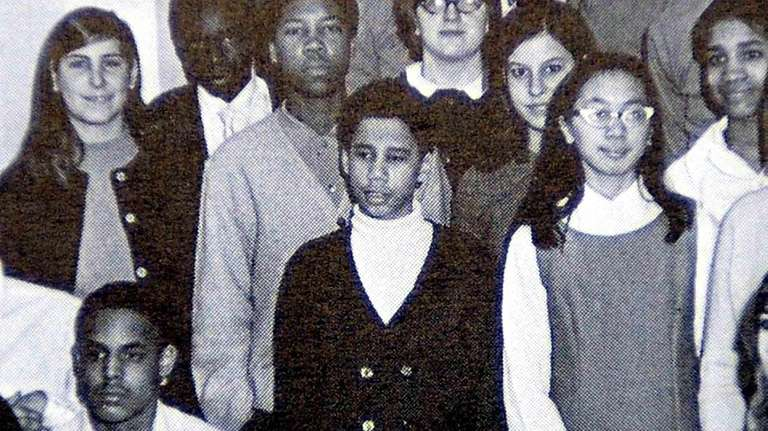 David A. Paterson is seen as a student