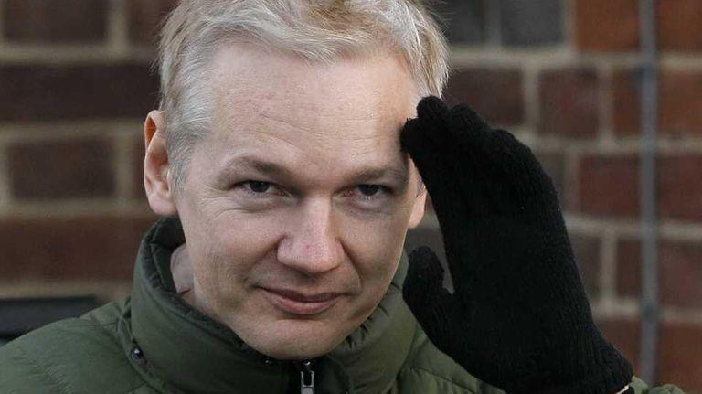 Julian Assange, head of WikiLeaks, gets back into