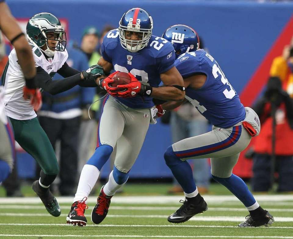 Corey Webster #23 of the New York Giants