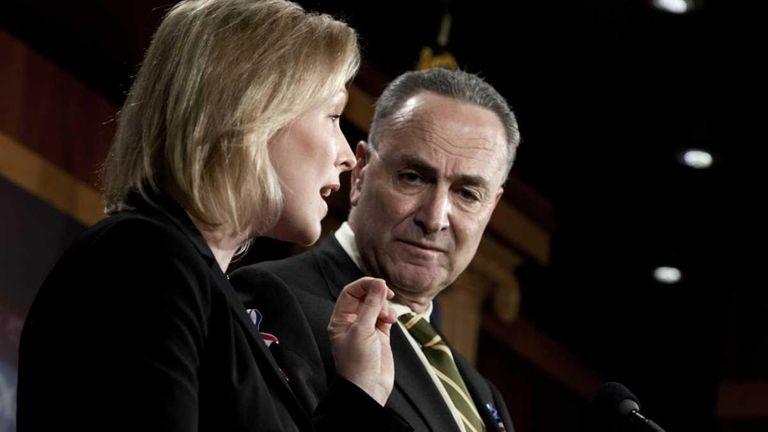 (L - R) U.S. Sen. Kirsten Gillibrand (D-NY)
