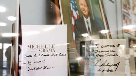 Autobiographies signed by Michelle Obama, first lady from